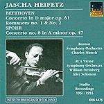 Jascha Heifetz Beethoven, L. Van: Violin Concerto, Op. 61 / Romances Nos. 1 And 2 / Spohr, L.: Violin Concerto No. 8 (Heifetz) (1951, 1954, 1955)