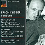 Erich Kleiber Tchaikovksy, P.i.: Symphonies Nos. 4 And 6 / Schubert, F.: Symphonies Nos. 5 And 8 (Kleiber) (1935, 1948, 1953, 1955)