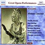 Giuseppe Valdengo Puccini: Manon Lescaut (Kirsten, Björling) (1949)