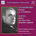 Boston Symphony Orchestra Mussorgsky: Pictures At An Exhibition / Ravel: Bolero (Koussevitzky) (1930-1947)