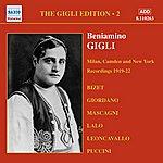 Beniamino Gigli Gigli, Beniamino: Gigli Edition, Vol. 2: Milan, Camden And New York Recordings (1919-1922)