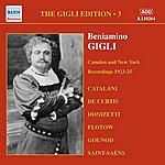 Beniamino Gigli Gigli, Beniamino: Gigli Edition, Vol. 3: Camden And New York Recordings (1923-1925)