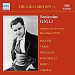 Beniamino Gigli Gigli, Beniamino: Gigli Edition, Vol. 4: Camden And New York Recordings (1926-1927)