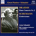Artur Schnabel Brahms: Piano Concerto No. 2 / Schumann: Kinderszenen (Schnabel) (1935, 1947)