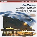 """Claudio Arrau Beethoven: Piano Sonatas Nos.8, 14 """"Moonlight"""" & 23 """"Appassionata"""""""