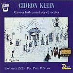 Ensemble 2e2m Klein : Oeuvres Instrumentales Et Vocales