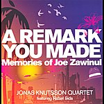 Jonas Knutsson A Remark You Made: Memories Of Joe Zawinul