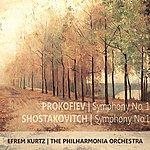 "Efrem Kurtz Prokofiev: Symphony No. 1 In D Major, Op. 25, ""Classical"" - Shostakovch: Symphony No. 1 In F Major, Op. 10"