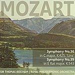 "Sir Thomas Beecham Mozart: Symphony No. 36 In C Major ""Linz"", Symphony No. 39 In E-Flat Major"