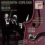 Isaac Stern Hindemith/Bloch/Copland: Violin Sonatas