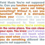Field Music You're Not Supposed To
