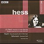 Myra Hess Hess - Bach: Prelude In G, Bwv 902 - English Suite No. 2 - Haydn: Keyboard Sonata No. 62 - Schumann: Carnaval