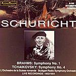 Carl Schuricht Brahms: Symphony No. 1 - Tchaikovsky: Symphony No. 4 (Live Recordings 1953-1954)