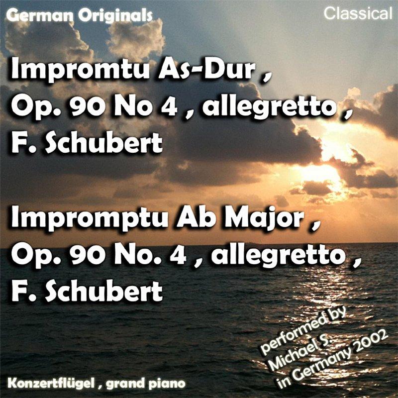Cover Art: Impromtu As-Dur , Opus 90 No 4 , Allegretto , Franz Schubert , Impromptu Ab Major , Opus 90 No 4 , Franz Schubert - Single