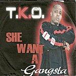 TKO She Want A Gangsta - Single
