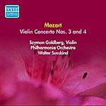 Szymon Goldberg Mozart, W.A.: Violin Concertos Nos. 3 And 4 (Goldberg) (1952)