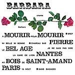 Barbara Barbara Chante Barbara