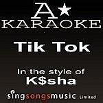 A K$sha - Tik Tok (Karaoke Audio Version)