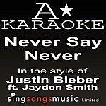 A Justin Bieber - Never Say Never (Karaoke Audio Version)