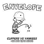 Envelope Clippers Vs Yankees