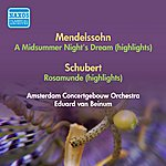 Eduard Van Beinum Mendelssohn, F.: Midsummer Night's Dream (A) (Excerpts) / Schubert, F.: Rosamunde (Excerpts) (Beinum) (1952)