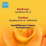 "Sir Thomas Beecham Beethoven, L.: Symphony No. 8 / Schubert, F.: Symphony No. 8, ""Unfinished"" (Beecham) (1951)"
