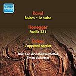 Ernest Ansermet Ravel, M.: Bolero / Honegger, A.: Pacific 231 / Dukas, P.: The Sorcerer's Apprentice / Ravel, M.: La Valse (Ansermet) (1954)