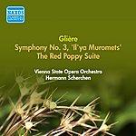 """Hermann Scherchen Gliere, R.: Symphony No. 3, """"Il'ya Muromets"""" / The Red Poppy Suite (Vienna State Opera Orchestra, Scherchen) (1952)"""