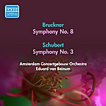 Eduard Van Beinum Bruckner, A.: Symphony No. 8 / Schubert, F.: Symphony No. 3 (Amsterdam Concertgebouw, Beinum) (1955)