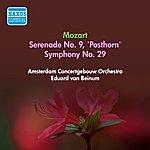 """Eduard Van Beinum Mozart, W.A.: Serenade No. 9, """"Posthorn"""" / Symphony No. 29 (Amsterdam Concertgebouw, Beinum) (1956)"""