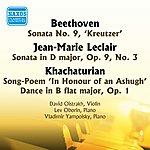 """David Oistrakh Beethoven: Violin Sonata No. 9, """"Kreutzer"""" / Leclair: Violin Sonata In D Major (Oistrakh) (1953)"""