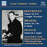 Jascha Heifetz Beethoven / Brahms / Franck: Violin Sonatas (Heifetz) (1937-1951)