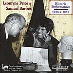 Samuel Barber Leontyne Price And Samuel Barber: Historic Performances