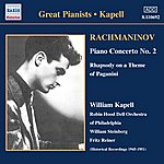 William Kapell Rachmaninov: Piano Concerto No. 2 / Rhapsody On A Theme Of Paganini (Kapell) (1950-1951)