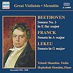 Yehudi Menuhin Beethoven / Franck / Lekeu: Violin Sonatas (Menuhin) (1936-1940)