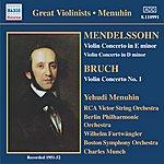 Yehudi Menuhin Mendelssohn / Bruch: Violin Concertos (Menuhin) (1951-1952)