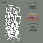 Jascha Heifetz Beethoven: Trio, Op. 9, No. 2, Bach: Sinfonia No. 4, 9, 3, Schubert: Trio No. 2