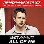 Matt Hammitt All Of Me (Performance Track) - Ep