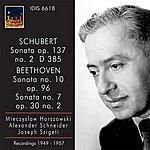 Alexander Schneider Schubert: Violin Sonata (Sonatina) In A Minor, Op. 137, No. 2 - Beethoven: Violin Sonatas Nos. 7 And 10
