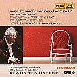 Klaus Tennstedt Mozart: Sinfonia Concertante - Bella Mia Fiamma - Cor Sincerum Amore Plenum - Haydn: Symphony No. 64