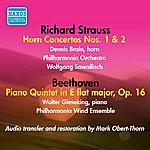 Wolfgang Sawallisch R. Strauss: Horn Concertos Nos. 1 & 2 - Beethoven: Piano Quintet In E Flat Major