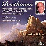 Sviatoslav Richter Beethoven: Eroica Variations, Other Variations; Schumann: Noveletten