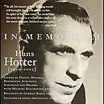 Hans Hotter In Memoriam Hans Hotter (1942-1945)