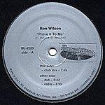 Ron Wilson Prove It To Me