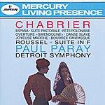 """Detroit Symphony Orchestra Chabrier: España; Suite Pastorale; Fete Polonaise; Overture """"Gwendoline""""; Danse Slave; Roussel: Suite In F"""