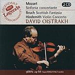 David Oistrakh Mozart: Sinfonia Concertante/Bruch: Scottish Fantasia; Hindemith: Violin Concerto (2 Cds)