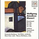Emil Klein Mozart: Divertimenti In D-Dur, B-Dur, F-Dur, Sinfonia Concertante