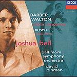 Joshua Bell Barber / Walton: Violin Concertos / Bloch: Baal Shem