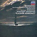 "Vladimir Ashkenazy Beethoven: Piano Sonatas ""Moonlight""; ""Appassionata""; ""Pathétique"""