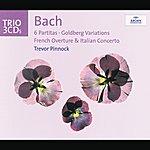 Trevor Pinnock Bach: 6 Partitas; Goldberg Variations; French Overture; Italian Concerto (3 Cds)